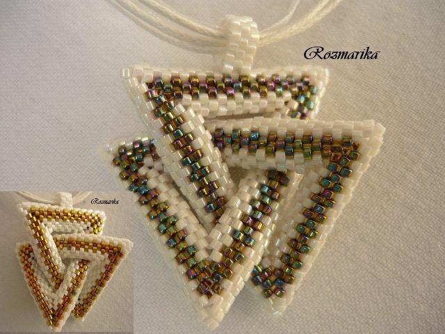 Dvojity trojuholník   biser.info - всё о бисере и бисерном творчестве