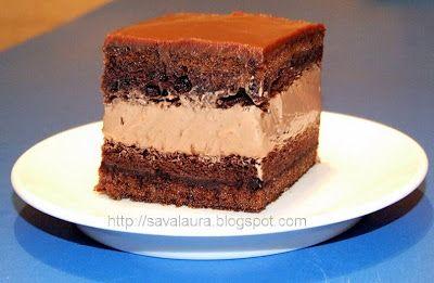 Prajitura Rigo Jancsi, pentru noi toti, iubitorii de ciocolata!!!! :D Este o prajitura incredibil de fina si gustoasa!!! Ingrediente pentru un blat cacao (avem nevoie de 2 blaturi): - 4oua - 4linguri zahar - 2linguri apa rece - 2linguri cacao, cu varf - 4 linguri pline cu faina - 2 linguritepraf de copt Pentru crema: - 500 ml smantana dulce pentru frisca - 400 g ciocolata cu lapte/amaruie - 2 lingurite ness cafe (optional) Pentru glazura: - 200 g ciocolata cu lapte, topita - 2 lingu...