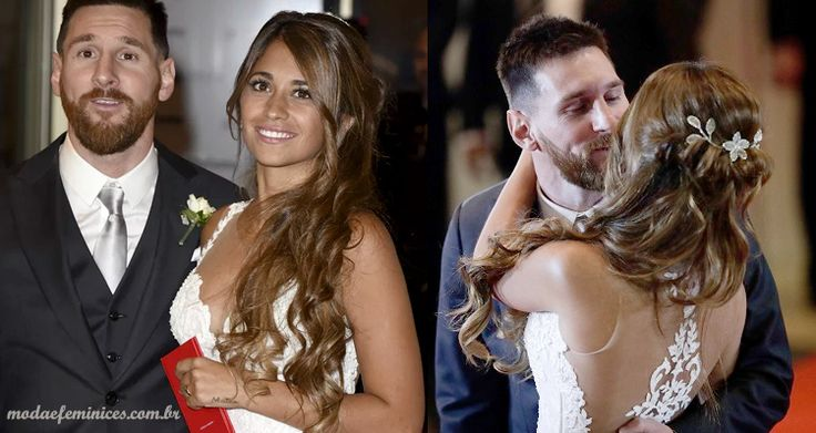 Penteado de noiva do casamento de Messi e Antonella Roccuzzo (Hair Bride) - Moda & Feminices