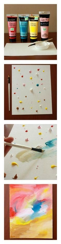 Teach your child about abstract art with this simple craft.