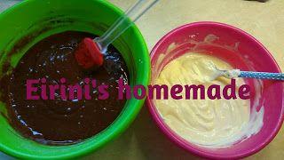 Eirini's homemade: Brownies  με κρέμα Cheesecake