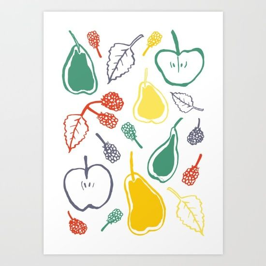 Apples and pears Art Print on @Society6