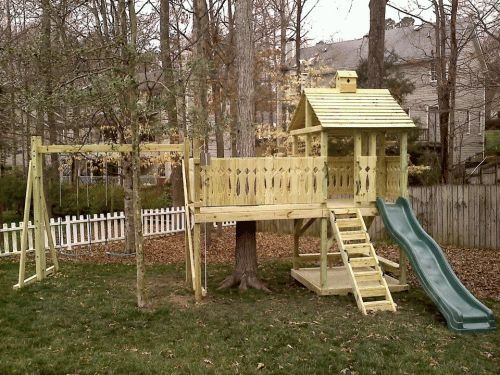 Playset Ideas Backyard fun kids backyard redo from zero landscapingto homemade playset Find This Pin And More On Playset Ideas