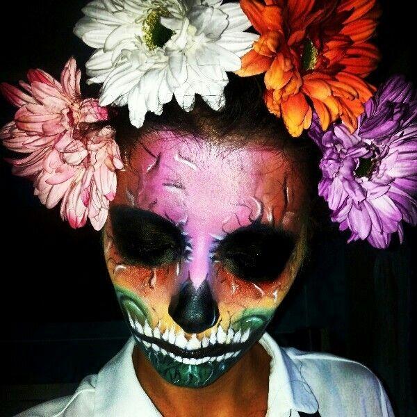 Skull Makeup #makeup #skull  #halloween