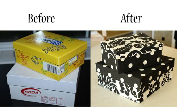 Turn my old shoe boxes into cute storage boxes with scrapbook paper. I've been meaning to do this. Now that I've pinned it, maybe I'll remember.