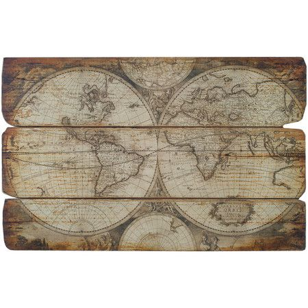 Add an antique-inspired touch to your living room or foyer with this charming wall decor, showcasing an Olde World map design.  $89    Product...