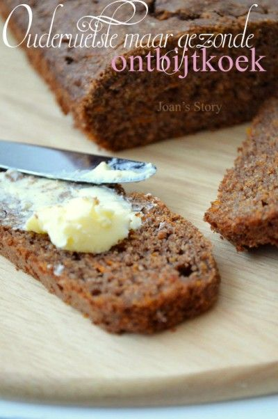 Healthy 'ontbijtkoek'. It tastes like gingerbread. (In Dutch).