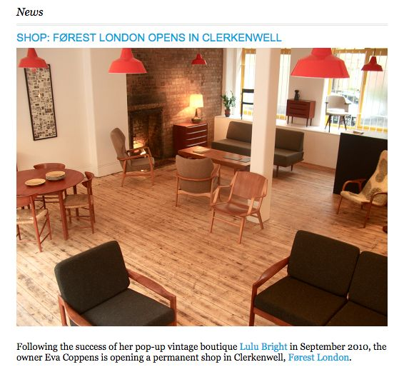 London Design Guide, Forest London Opens in Clerkenwell, 2012