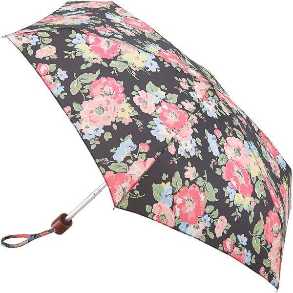 Cath Kidston by Fulton Tiny-2 Summer Bloom Umbrella, Navy/Multi (550 MXN) ❤ liked on Polyvore featuring accessories, umbrellas, lightweight umbrella, navy umbrella, wind resistant umbrella, summer umbrella and floral umbrella