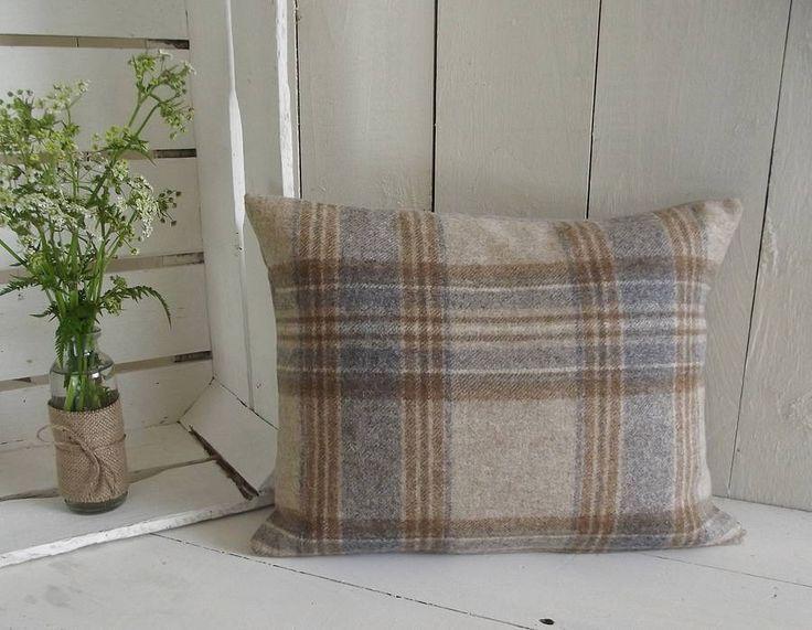 handmade luxury irish linen and wool cushion by rustic country crafts | notonthehighstreet.com