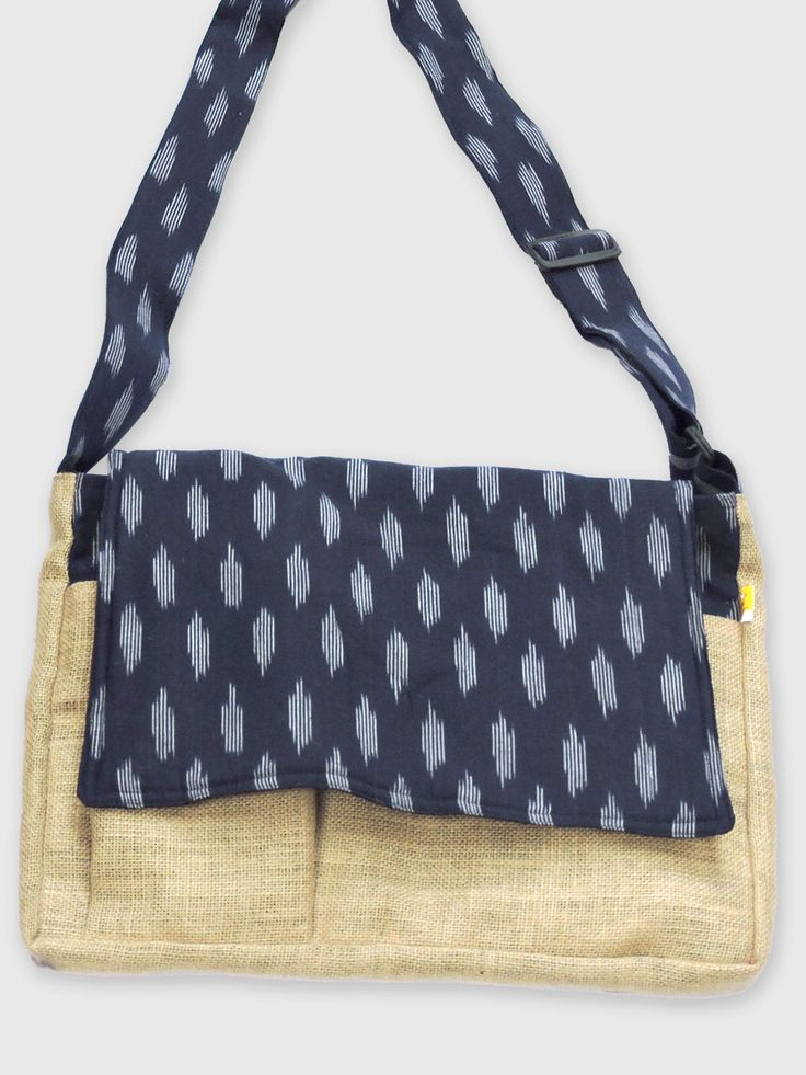 Handcrafted Laptopbag with the finest handwoven Ikat fabric