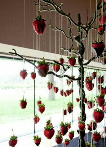 Chocolate covered strawberry tree by Not Enough Thyme Catering (636)235-6094 https://m.facebook.com/caterernet  email: netcatering@yahoo.com