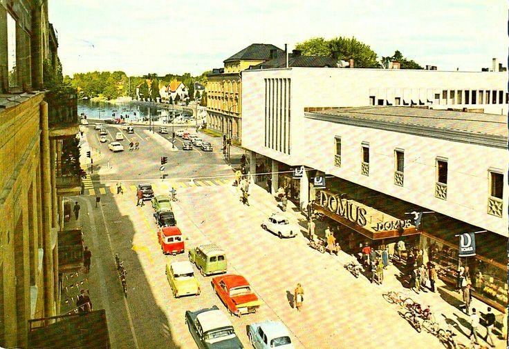 Värmland Karlstad bilkö vid gamla Konsum 1963