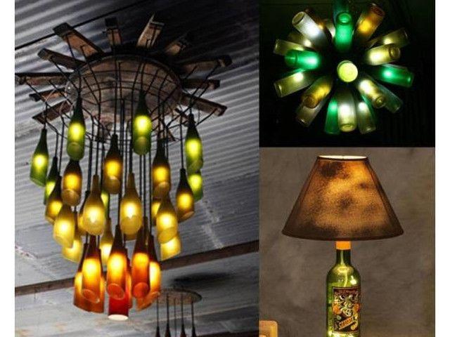 Découvrez des bonnes idées pour transformer de simples bouteilles de verre en objets deco.