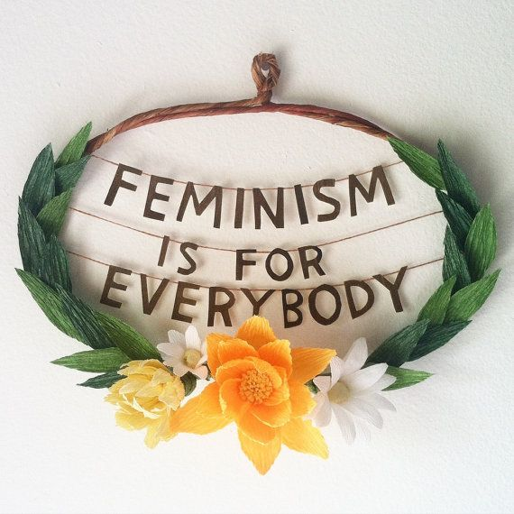 Feminism is for everybody bell hooks quote by gracedchin on Etsy
