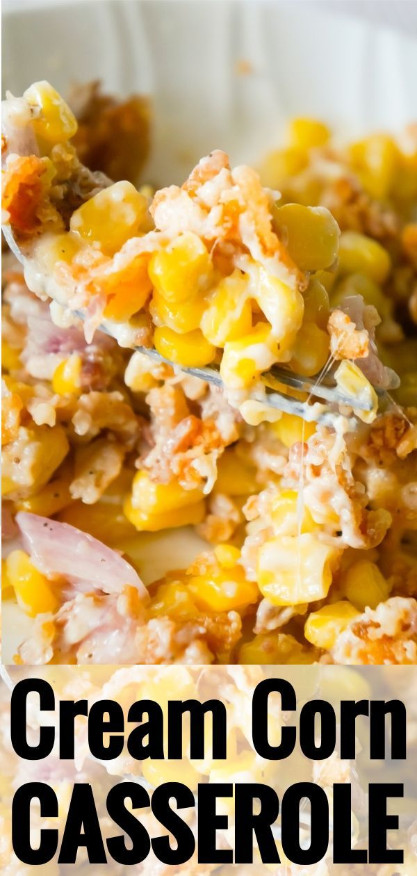 Cream Corn Casserole is an easy side dish recipe l…