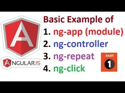 Basic Example of AngularJS for beginners | Part 1