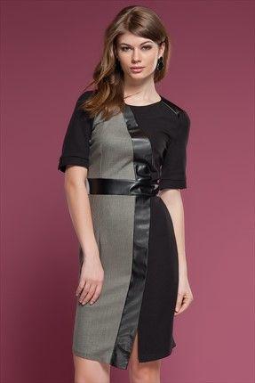 Ruj by Sln - Siyah Elbise 14616 Trendyol da