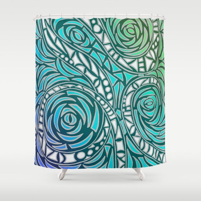 Buy How the River Flows - White on colour Shower Curtain by jilla. Worldwide shipping available at Society6.com. Just one of millions of high quality products available.