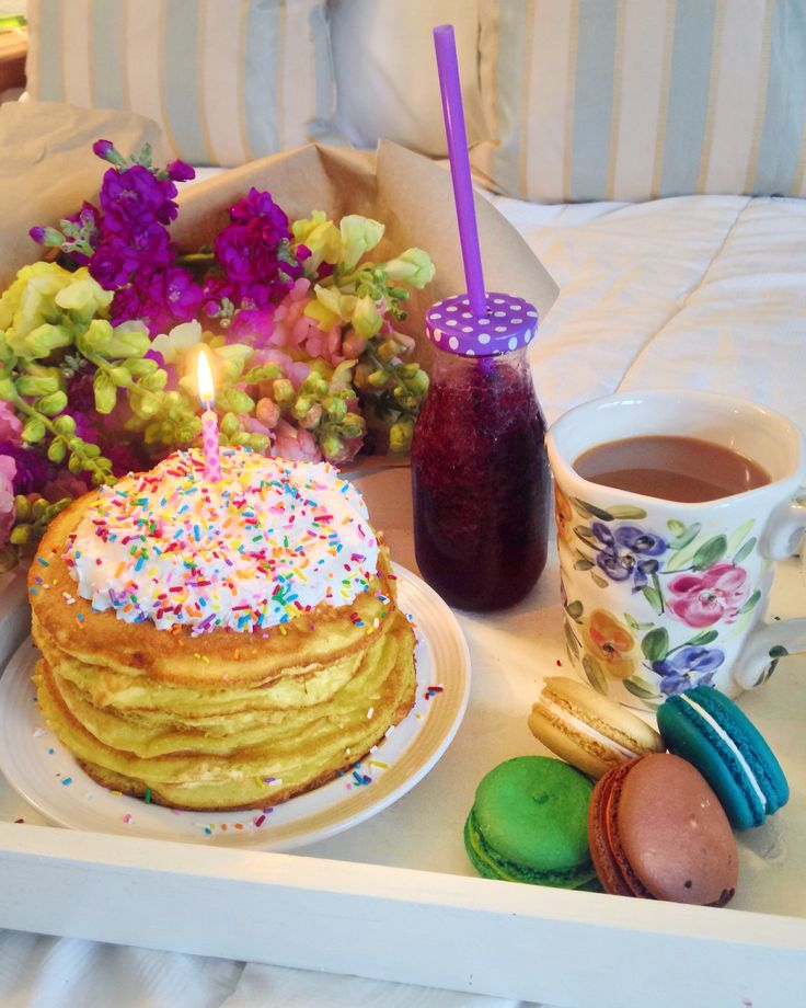 @sydhoff3 Birthday Breakfast In Bed. Birthday Pancakes