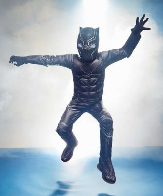 Ultimate Black Panther Civil War Costume For Boys - exclusively ours - As the descendant of a royal warrior race, T'Challa is Black Panther, a strategy master who's skilled in armed combat.