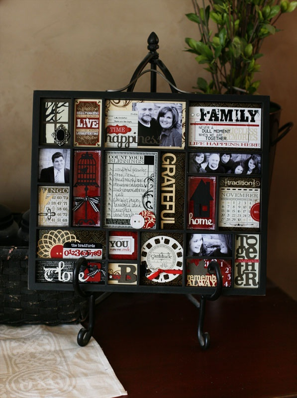 Make a frame every year that includes significant events, photos, etc. from that year
