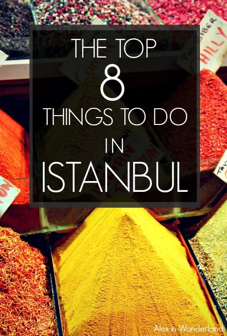 Istanbul, Turkey, has a little something for everyone. Shopping, cruises, spas and more to keep every type of traveler entertained. Here are Alex in Wanderland's top 8 picks.