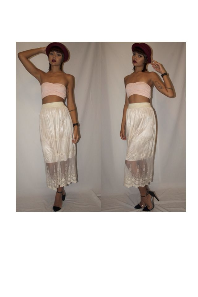 COACHELLA/ EMPIRE OF THE SUN, are you ready for 2014 festival season?  Get hip in our cream bandeau top and crochet skirt... Add a bowler hat for that special touch!   Get your boots ON to seal the deal