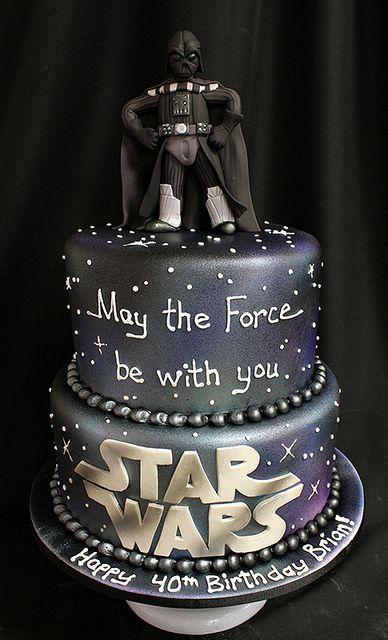 Star Wars Cake w/Darth Vader Figurine