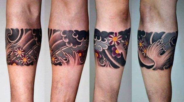 Armband Cherry Blossom Mens Japanese Tattoo Design Inspiration