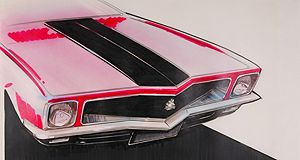 The Holden Torana in a 1970s concept sketch done by then Holden designer Phillip Zmood.