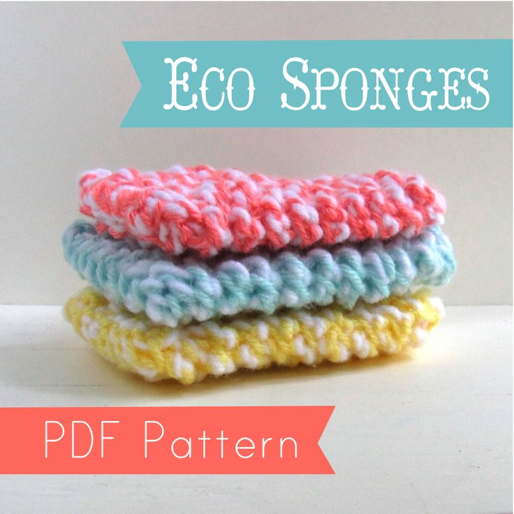 Cute up your kitchen while gaining eco points and be thrifty with your own set of reusable sponges. I've been using my hand-knit sponges for over a year now and even with frequent machine washing they are still in stellar shape! This listing is for a PDF knitting pattern and tutorial, chock full of photos and tips and is simple enough for even all skill levels, including super beginners. Materials needed: