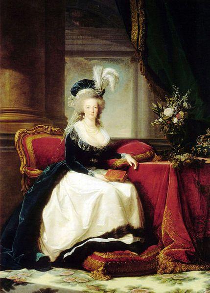 Marie Antoinette in a portrait by Élisabeth Vigée-Lebrun (1788).