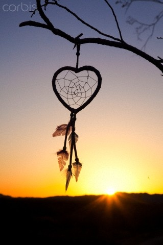 I am in love with dream catchers, especially ones in the shape of hearts.