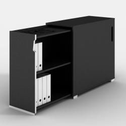 Praktisk og smuk udtræksreol - placeres til højre eller venstre for skrivebordet - anvendes til personlig opbevaring.