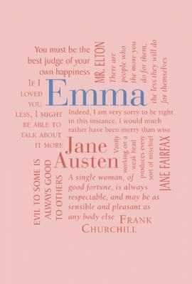 Book cover (Word Cloud Classics / Imitation Leather Cover on Book) of Emma by Jane Austen (Published: 15th October 2013) #janeausten