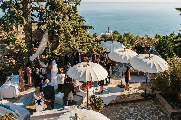 Image by Andreas Holm - Fiesta Sol Marbella Luxury Destination Wedding White on White Colour Scheme Andreas Holm Photography
