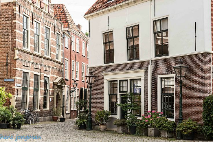 Leiden, the red brick house on the left is Rembrandt's old Latin School.