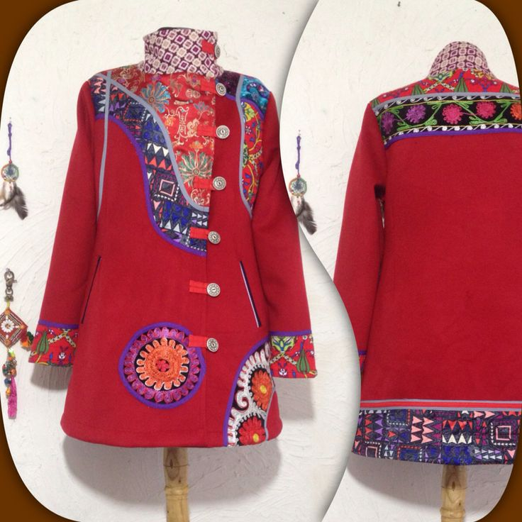 Red with suzani coat