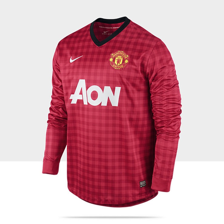 2012/13 Manchester United Replica Long-Sleeve Men's Soccer Jersey