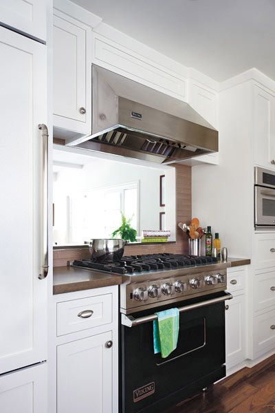 84 best images about vent hood decorating on pinterest for Window under kitchen cabinets
