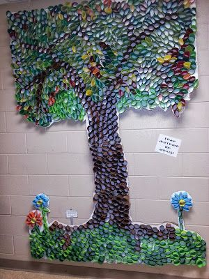 Toilet paper recycled tree.