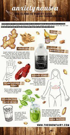 Anxiety Nausea Remedy Infographic