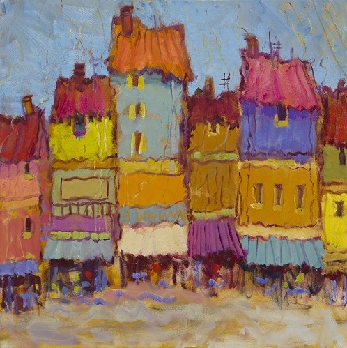 La Ville DHonfleur    Artist Alice Williams   Medium Oil on Canvas   Category Painting   Circa 2013   Dimensions H 30in x W 30in