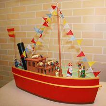 te koop: De stoomboot van Sinterklaas decoratie. Uiteraard ook zelf na te maken