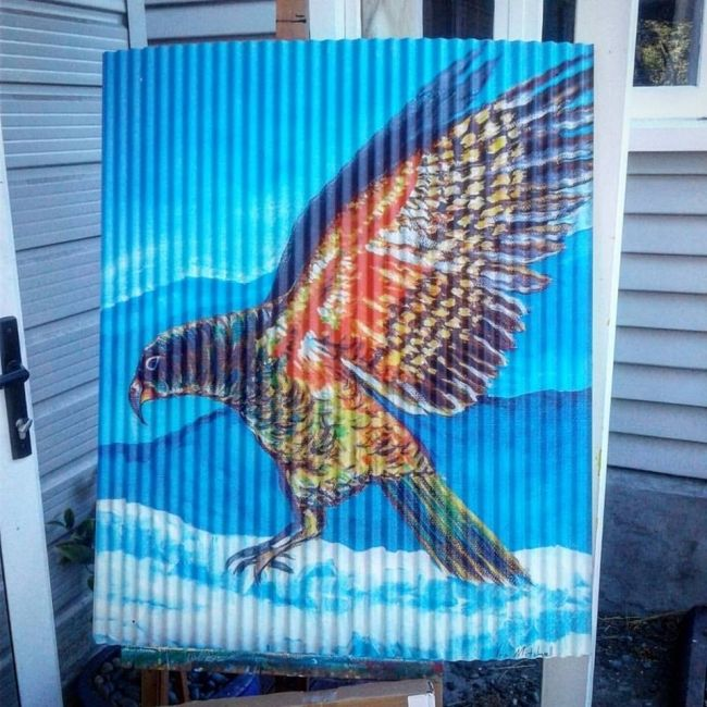 Enter to win: A2 corrugated Iron Kea print | http://www.dango.co.nz/pinterestRedirect.php?u=VWrfwkOJ4392