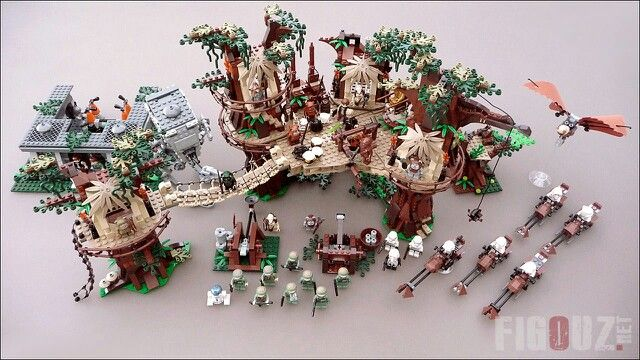 my lego star wars 10236 ewok village along with my other endor star wars sets love them. Black Bedroom Furniture Sets. Home Design Ideas