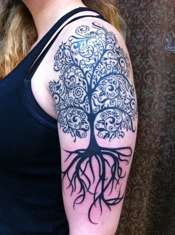 Tree sleeve tattoos(1)