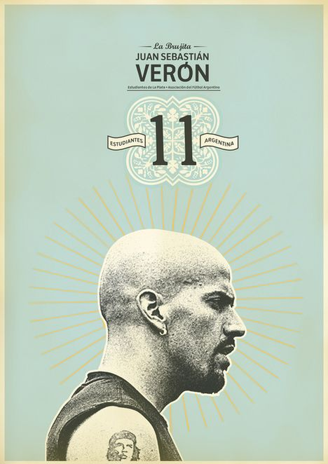 Veron: Zoran Lucić shows all its love for the round ball. Around graphic designs on the biggest players of the history of football, the Bosnian artist manages to emphasize these sportsmen of passed and the present.