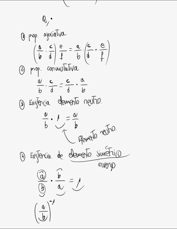 Propiedades de números racionales